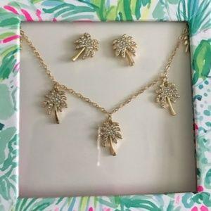 Lily Pulitzer palm tree jewelry set